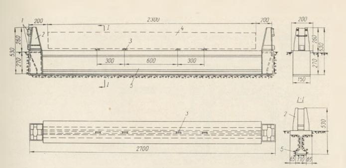 Схема стационарного железобетонного стенда для изготовления балок - stroyone.com