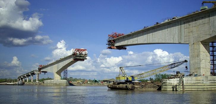 Строительство рамно-консольного железобетонного автодорожного моста - stroyone.com
