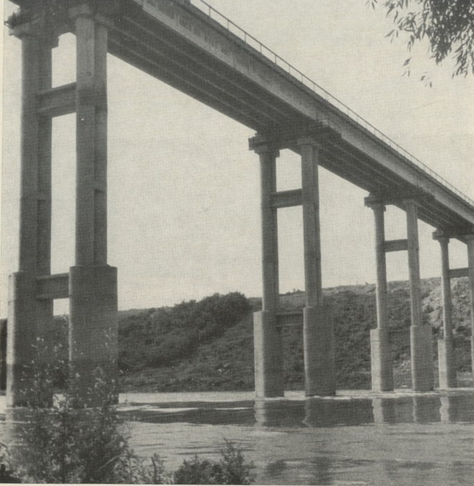 Массивно-столбчатые опоры моста через р. Южный Буг у с. Ивановка - stroyone.com