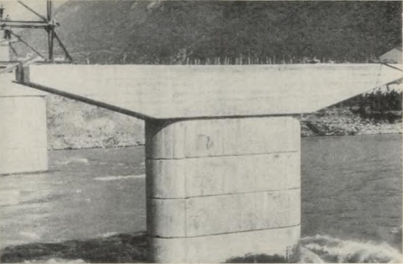 Сборная опора моста через реку Бзыбь - stroyone.com