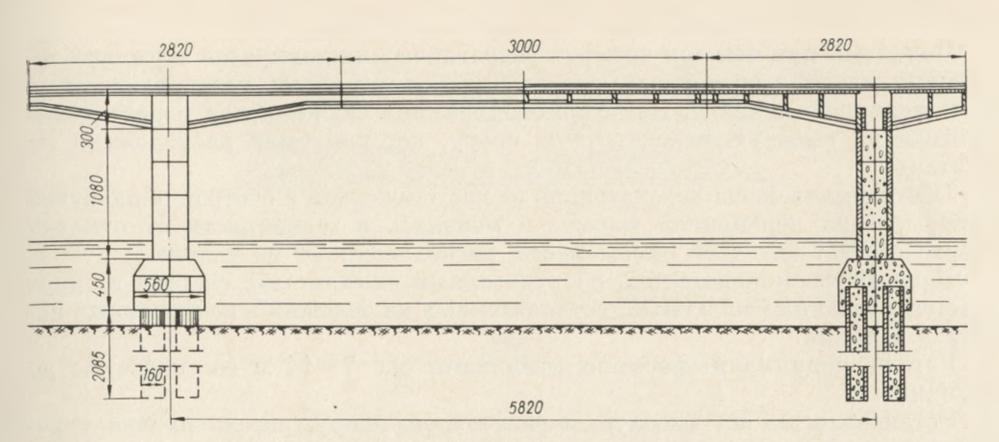 Схема моста через реку Лиелуппе - stroyone.com