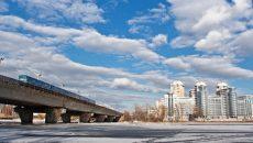мост метро на русановке