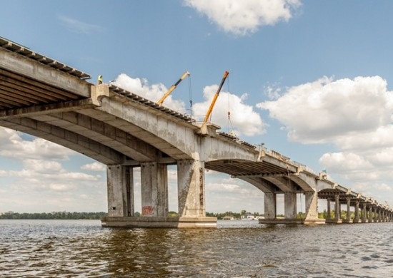 Русловая часть моста через р. Днепр в Днепре - stroyone.com