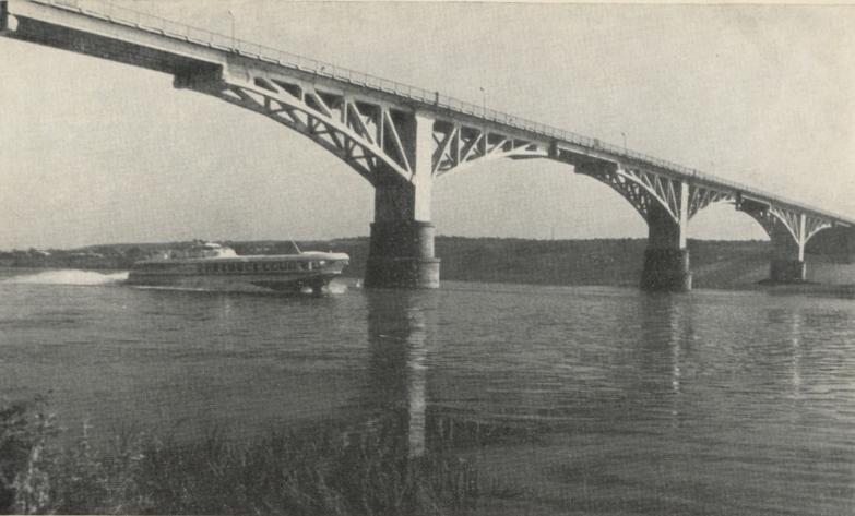 Мост с железобетонными сборными сквозными фермами рамно-подвесной системы - stroyone.com