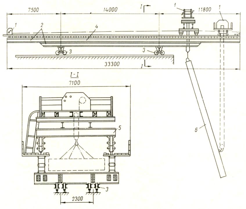 консольно-шлюзовой кран оригинальной конструкции грузоподъемностью 15 т - stroyone.com