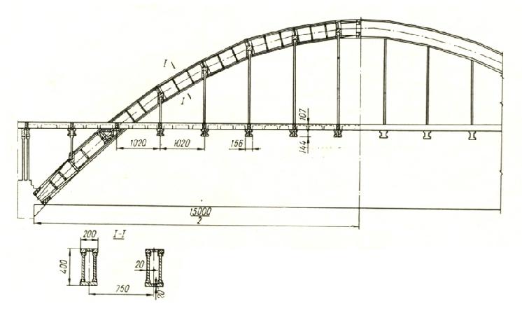 Схема арочных пролетных строений пролетом 150 м - stroyone.com