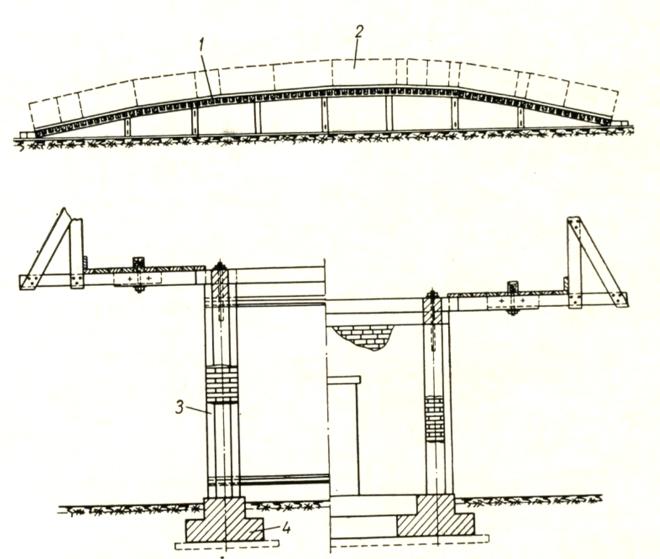 Схема стапеля для изготовления блоков арки - stroyone.com