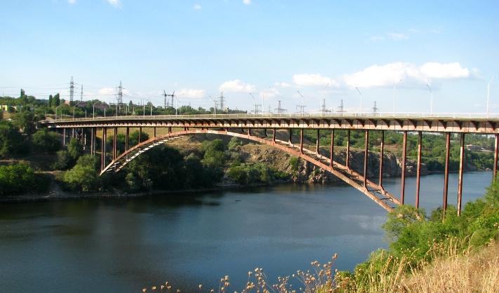 Арочный мост в Запорожье - stroyone.com