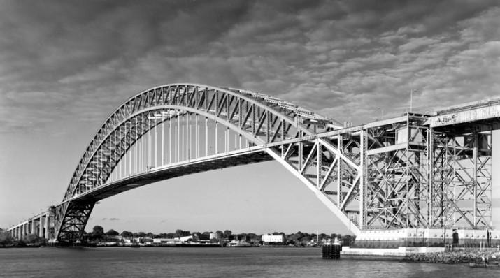 Арочный мост методом навесного монтажа Bayonne Bridge 1931 - stroyone.com