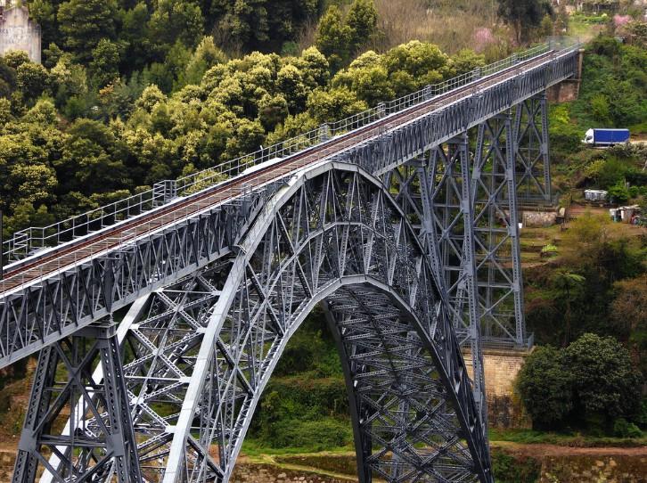 Арочный мост Ponte Maria Pia - Portugal 1877 - stroyone.com