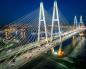 Вантовый (большой Обуховский мост) через реку Неву - by stroyone