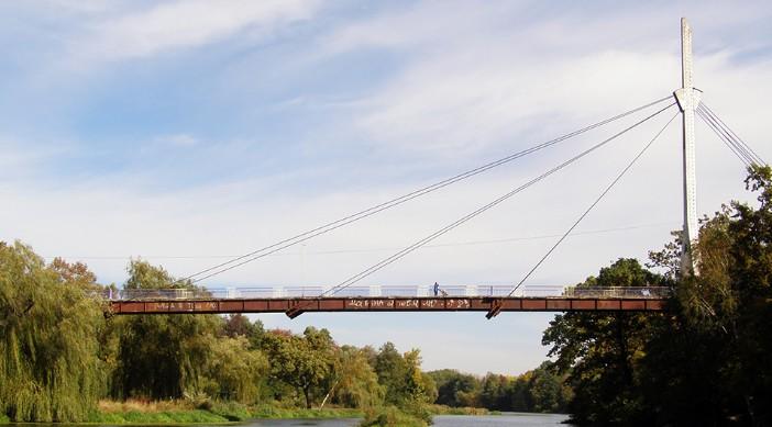 Вантовый мост через реку Уж в Коростене - stroyone.com