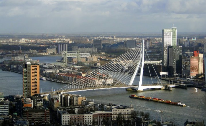 Вантовый мост Erasmus Bridge, Rotterdam, 1998 - stroyone.com