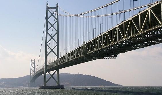 Висячие мосты один из которых Акаси-Кайкё (akashi kaikyo) - stroyone.com