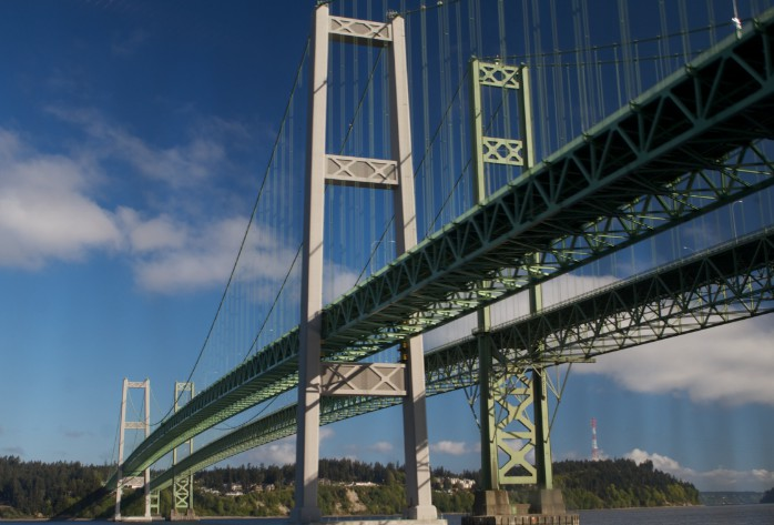 Висячий мост Tacoma Narrows Bridge 1950- stroyone.com