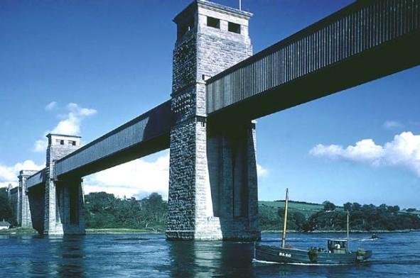 Мост Британия через Менейской залив Britannia Railway Bridge - stroyone.com
