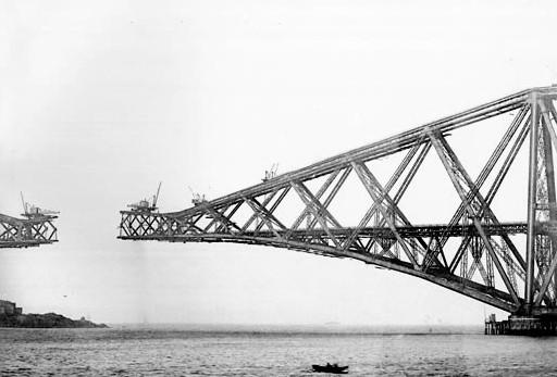 Навесной монтаж консольного металлического мост Forth Rail Bridge