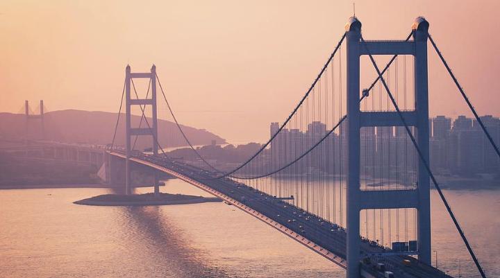 Подвесной мост Цинма (Tsing Ма bridge)