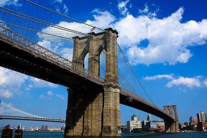 Комбинированные подвесные мосты один из которых Brooklyn Bridges - stroyone.com