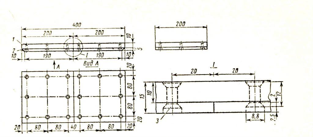 Крепление фторопласта-4 к листу