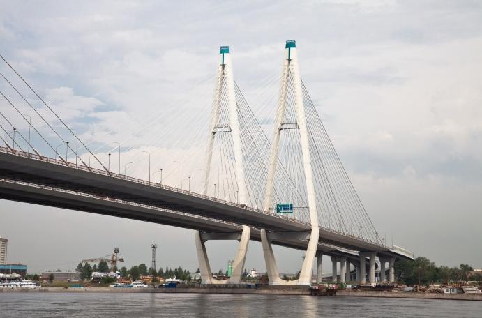 Вантовый (большой Обуховский мост) через реку Неву - stroyone.com