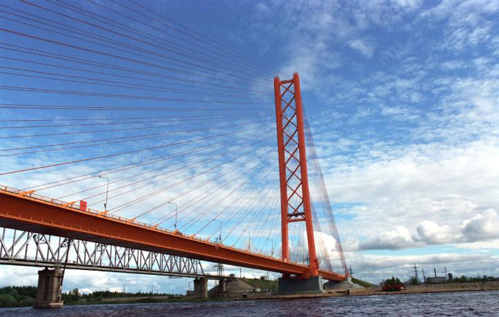 Вантовый мост через Обь в Сургуте - stroyone