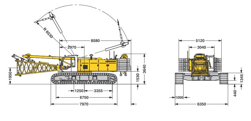 Габаритные размеры гусеничного крана Liebherr LR 1130 - stroyone.com