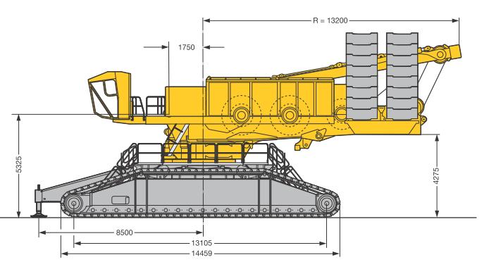 Габаритные размеры гусеничного крана Liebherr LR 11350 - stroyone.com