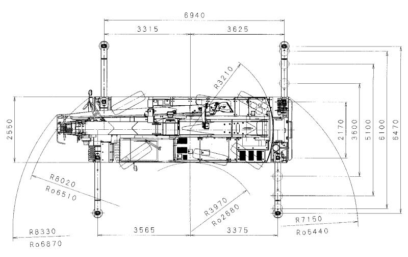Размеры автокрана Grove GCK3045 - stroyone.com