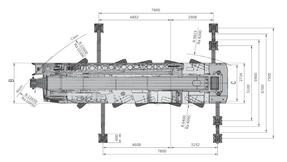 Размеры автокрана Grove GMK5095 - stroyone.com