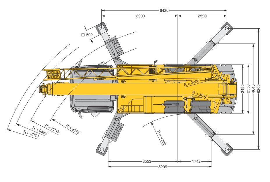 Размеры автокрана Liebherr LTF 1035-3.1 - stroyone.com