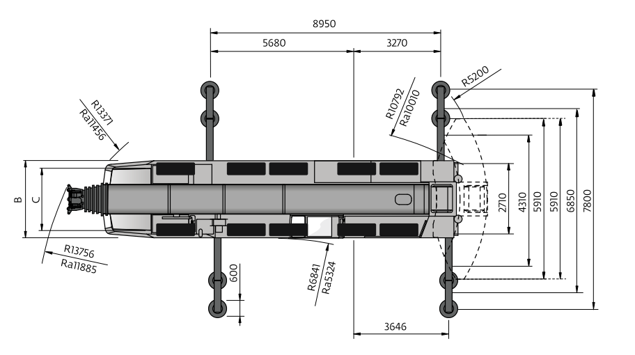 Размеры в плане автокрана Grove GMK6300 - stroyone.com