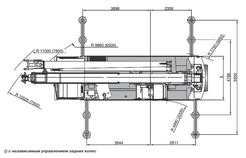 Размеры в плане автокрана Terex AC40-2 - stroyone.com