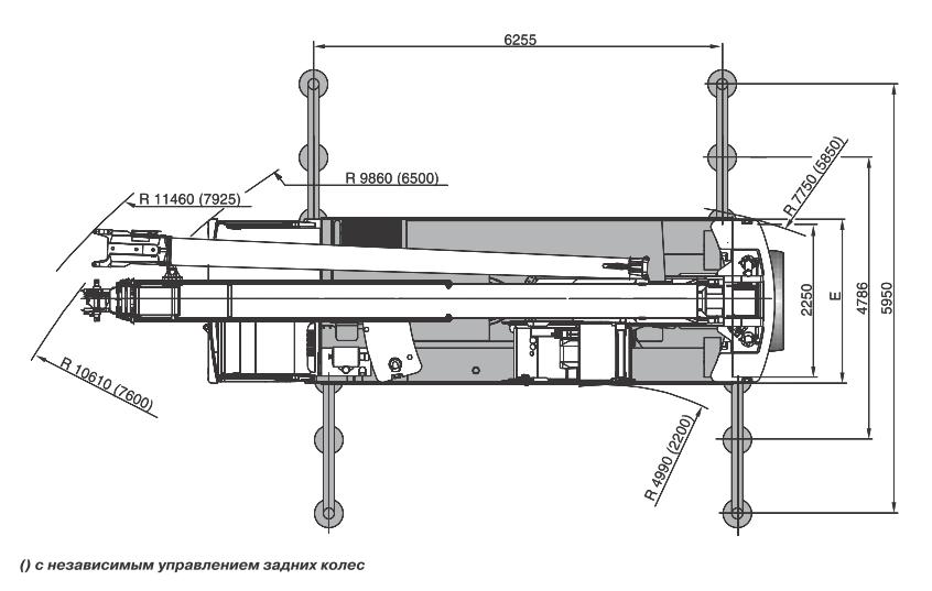 Размеры в плане автокрана Terex AC40-2L - stroyone.com