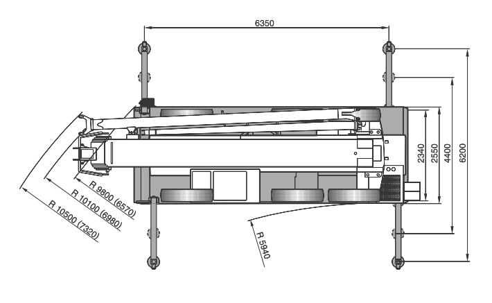 Размеры в плане автокрана Terex AC40city - stroyone.com