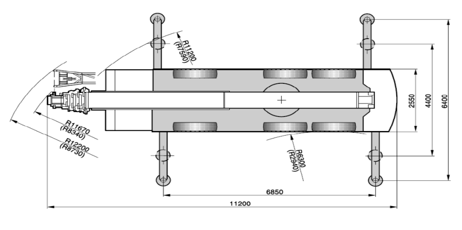 Размеры в плане автокрана Terex AC50-1 - stroyone.com