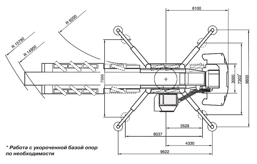 Размеры в плане автокрана Terex AC500-2 - stroyone.com