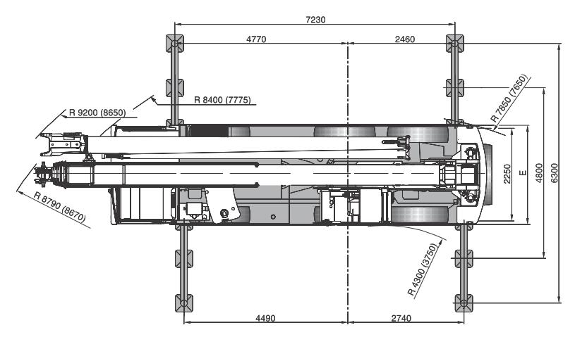 Размеры в плане автокрана Terex AC60-3L - stroyone.com