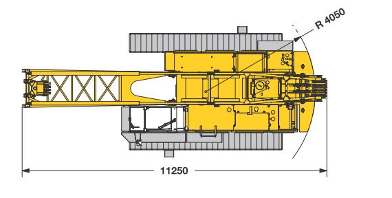 Размеры гусеничного крана Liebherr HS 835 HD - stroyone.com