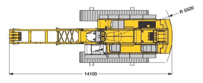 Размеры гусеничного крана Liebherr HS 875 HD - stroyone.com