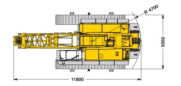 Размеры гусеничного крана Liebherr LR 1100 - stroyone.com