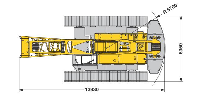 Размеры гусеничного крана Liebherr LR 1130 - stroyone.com