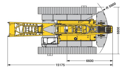 Размеры гусеничного крана Liebherr LR 1160 - stroyone.com