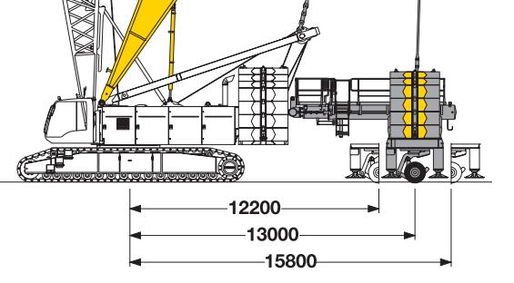 Размеры гусеничного крана Liebherr LR 1300 (derrick)- stroyone.com.png