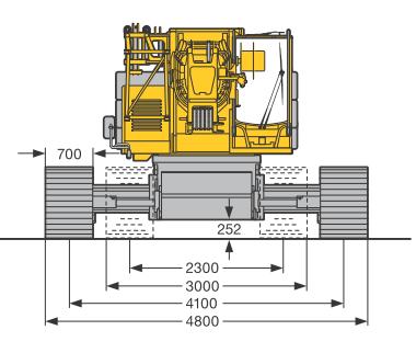 Размеры гусеничного крана Liebherr LTR 1060 - stroyone.com.png