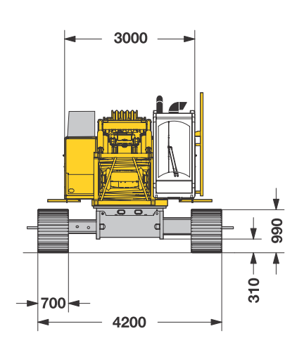Размеры гусеничного крана Liebherr HS 825 HD - stroyone.com