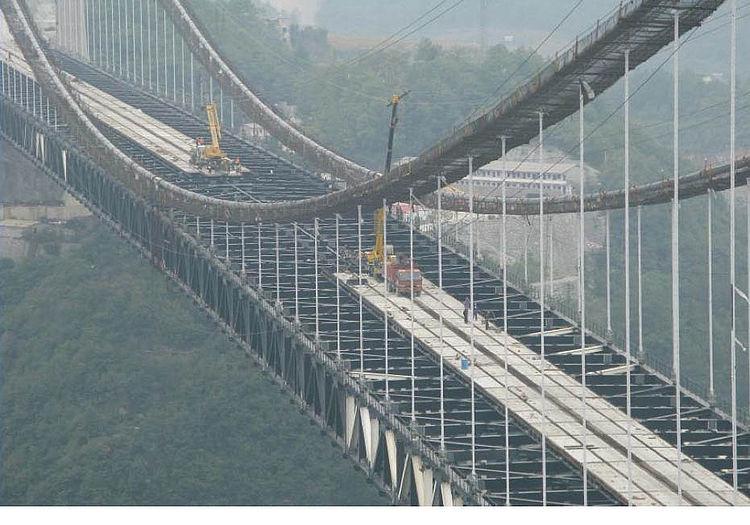 Укладка сборных железобетонных плит Sidu River Bridge